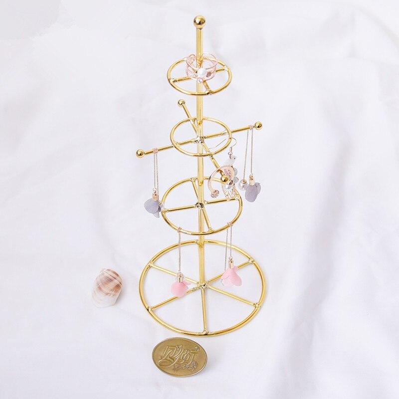 Métal Or Plaqué Boucles D'oreilles Pendentif Anneau Titulaire D'affichage D'affichage de Bijoux Rack Bijoux Affichage Stand