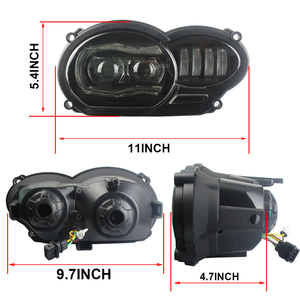 Image 4 - For BMW R1200GS 2008 2009 2010 2011 Protective cover Led Headlight Assembly New Motorcycle Light Lightings DRL Original Complete