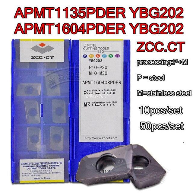 APMT1135PDR APMT160408PDER YBG202 YBG205 YBG302 100% Nguyên Bản Zcc. Ct APMT1135 APMT1604 Carbide Lắp