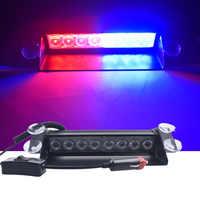 DC 12 V 8 LED s voiture lumière LED Police stroboscope lumière Dash d'urgence ventouse avertissement 3 feux de brouillard clignotants rouge/bleu jaune bleu