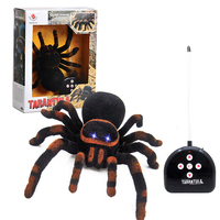 Remote Control Spider Realistic Soft Creepy Tarantula Animal Figures Prank & Joke Gag Toy Insect Bug Christmas & Halloween Party