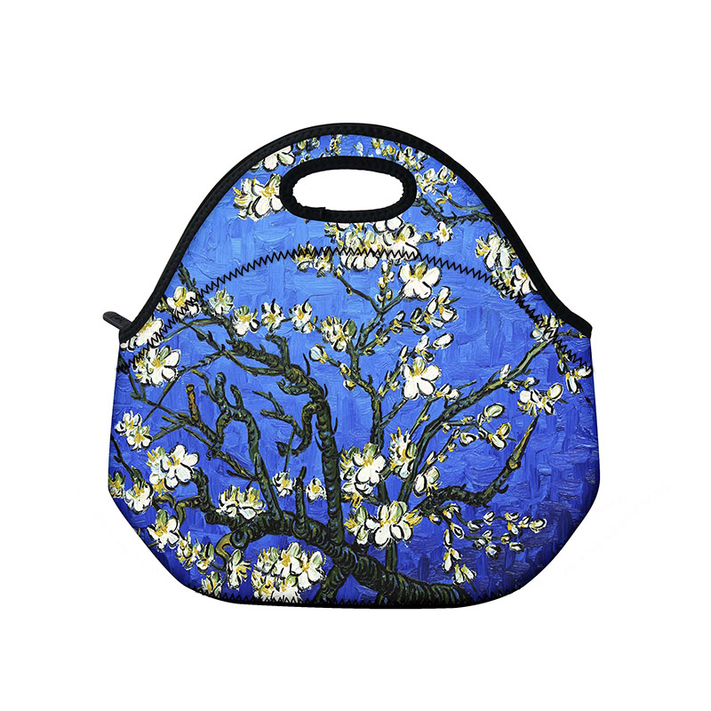94805a0d4ed7 US $14.99 |Insulated Neoprene Lunch Bag Tote Handbag lunchbox Food  Container Gourmet Tote Cooler Warm Pouch For School work Office Van Gogh-in  Laptop ...