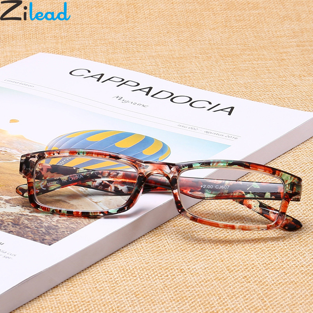 Zilead Elegance Lady Floral Reading Glasses Retro Resin HD Presbyopia Spectacles Eyewear With Diopter +1.0to+4.0 For Female
