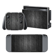 Black Wood Grain Vinyl Skin Sticker For Nintendo Switch NS Console + Joy-Con + Dock Station