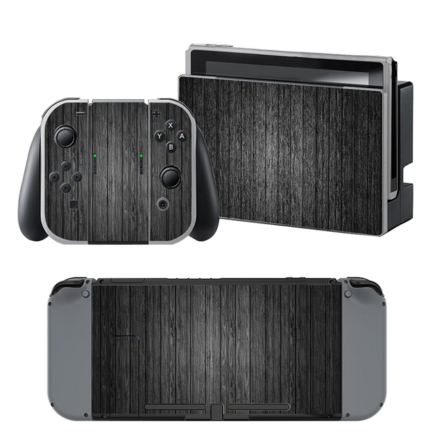 Black wood grain vinyl skin sticker for nintend switch decal stickers