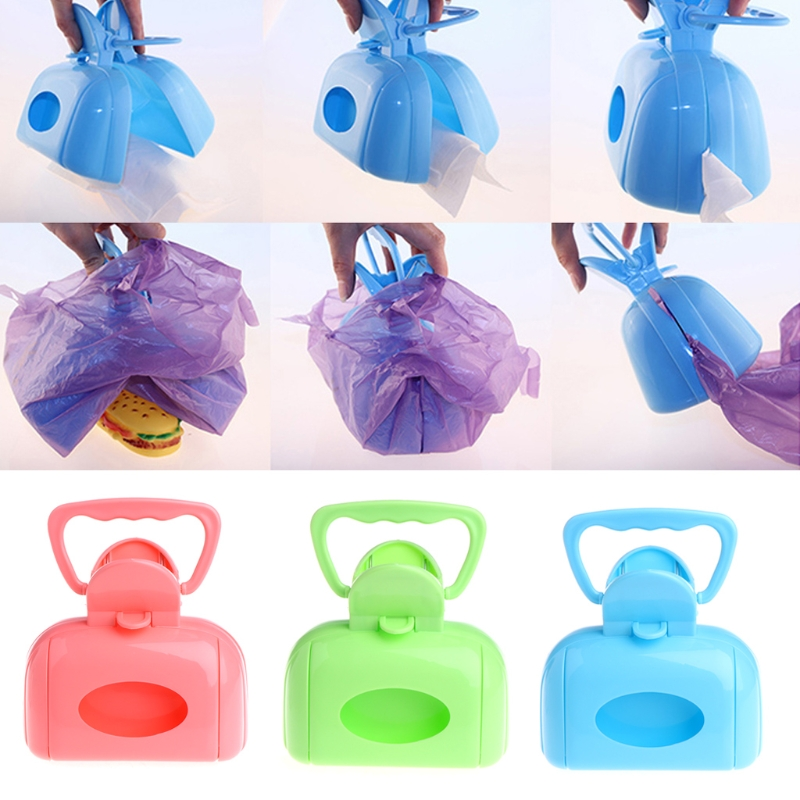 Newest Mini Dog Poo Bags Container Pet Excrement Bag Pet Dog Cat Outdoor Walking Training Wast Pick Up Bags
