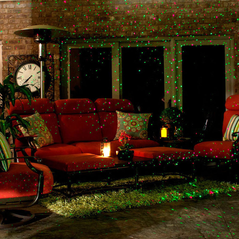 Ip65 Waterproof Outdoor Christmas Lights Elf Laser Projector Red Green Moving Fireworm Effect New Year Light