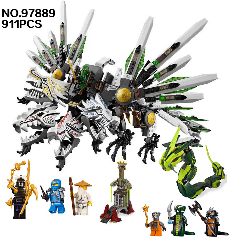 Bela 9789 Ninja Armageddon Epic Dragon Battle 911pcs Building Block Sets DIY Toys for Children Develop intellectual toys bela 911pcs ninjagoes epic dragon battle building block set jay zx chokun minifigures kids toy compatible with legoes 9450