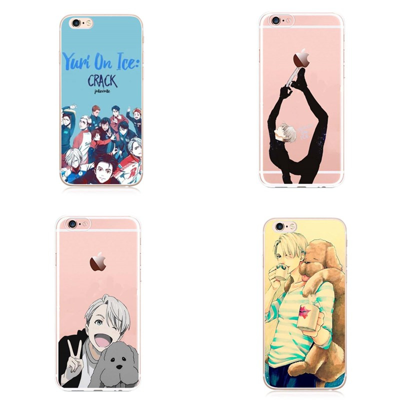 2017 New Anime YURI!!! on ICE For iPhone 5 5S SE 6 6Plus 7 7Plus YURI!!! on ICE For iPhone X Cases