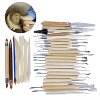 30PCS Pottery Tools Sculpting Carving Cinzel Knife Tool Set Includes Clay Color Shapers Modeling Tools Wooden