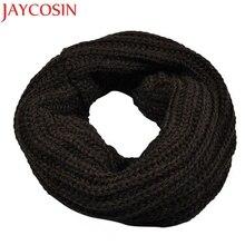 JAYCOSIN осенне-зимний вязаный шерстяной шарф для мальчиков и девочек, шаль, зимний теплый шарф с воротником, Прямая поставка