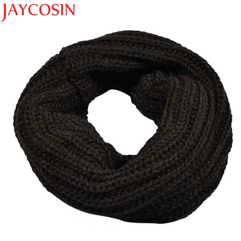 JAYCOSIN Autumn Winter Boy's Girl's  Knitted  Circle Wool Scarf Shawl Wrap Winter Warm Collar Drop Shipping  Drop Shipping