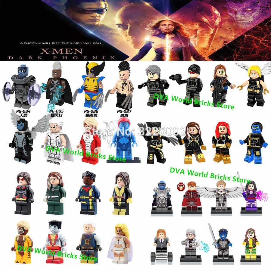 Marvel X-Men Dark Phoenix Professor X Mystique Wolverine Storm Beastly Apocalypse Beast Building Blocks Toys Figures deadpool