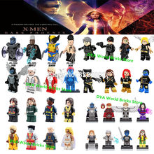Wolverine Marvel X-Men Dark Phoenix Professor X Mística Tempestade Beastly Besta do Apocalipse Building Blocks Brinquedos Figuras deadpool(China)