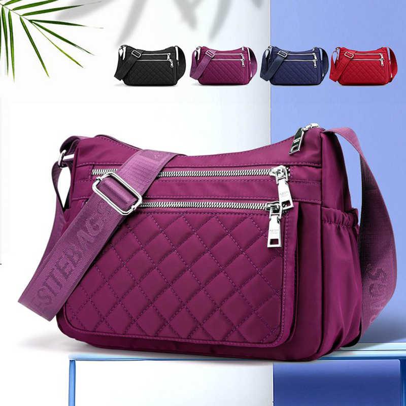 8f88f68a4c47 Women's bag Oxford textile handbag ladies luxury brand waterproof plaid  shoulder bag designer design quality ladies Messenger ba