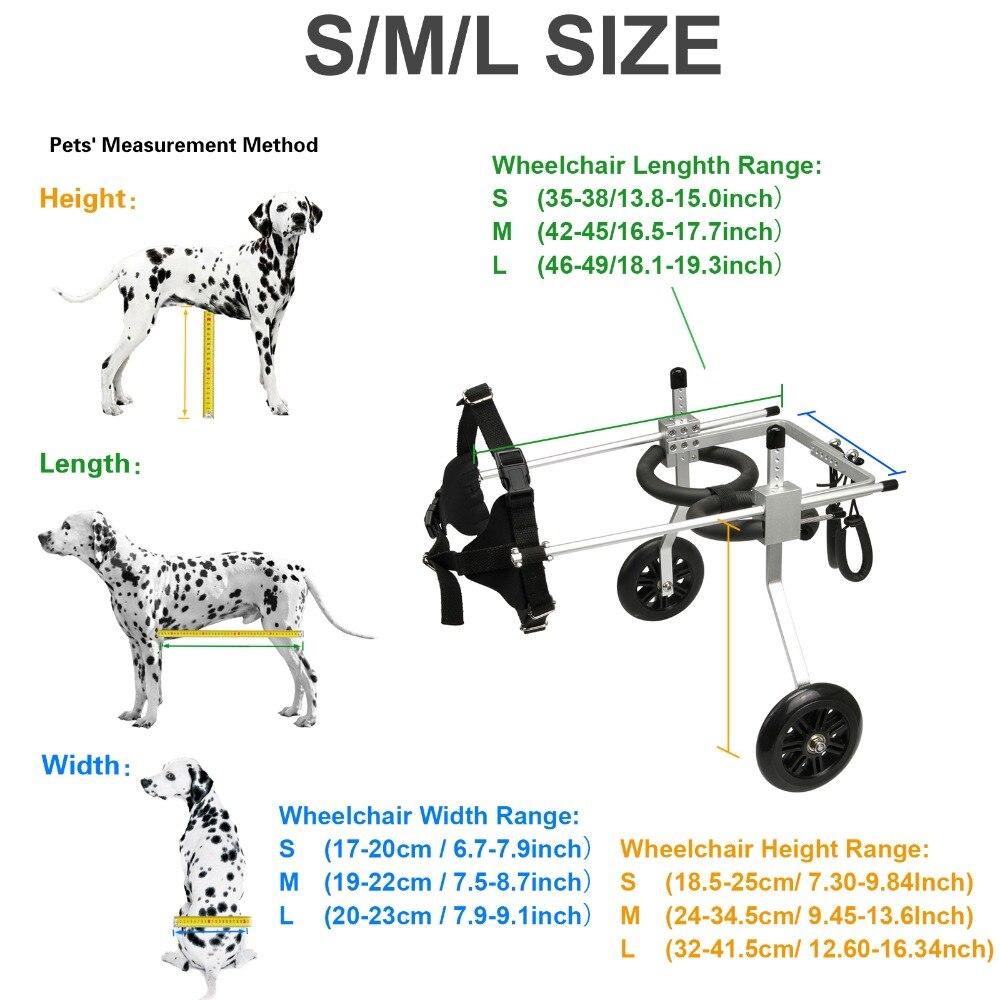 Ev ve Bahçe'ten Çeviklik Ekipmanları'de Ayarlanabilir Köpek Sepeti 2 Tekerlekli Sandalye Pet Hareketlilik Köpek Tekerlekli Sandalye Engelliler için Pet Köpek S/M/L'da  Grup 1