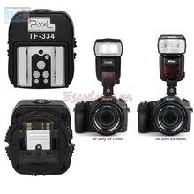 Adaptador de sapato quente pixel TF 334 para nikon canon flash e sony nova câmera multi interface a7 a9 a5100 a6600 a6500 a6100 a99 a77ii