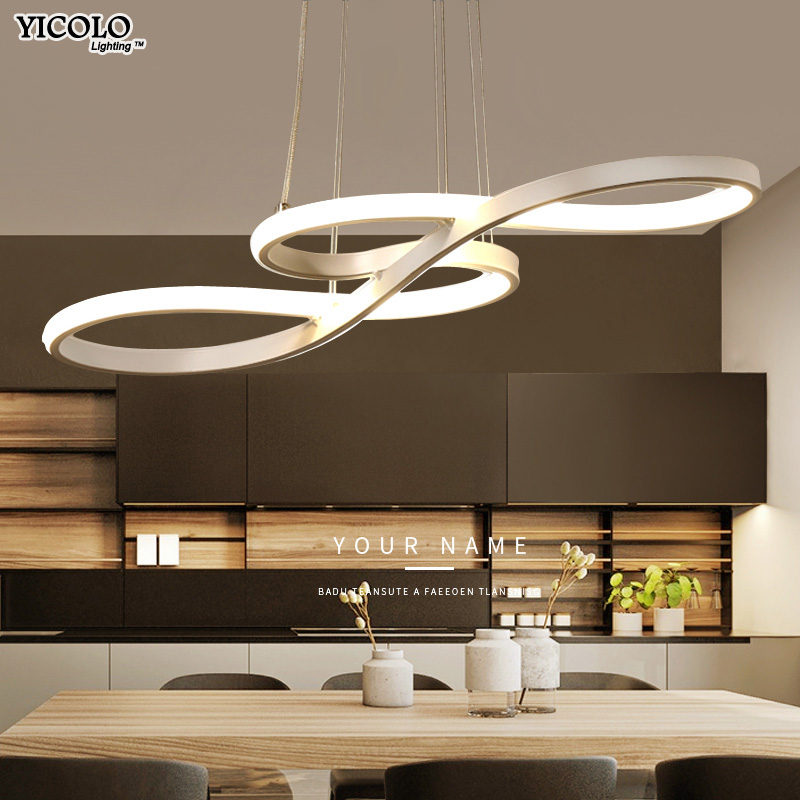 Modern New Creative Led Pendant Lights Kitchen Aluminum Silica Suspension Hanging Cord Lamp For Dinning Room Lamparas Colgantes
