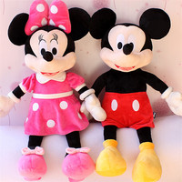 1pc 100CM best selling high quality Mickey Mouse or Minnie Mouse plush toy doll birthday Christmas gift baby sleep toys