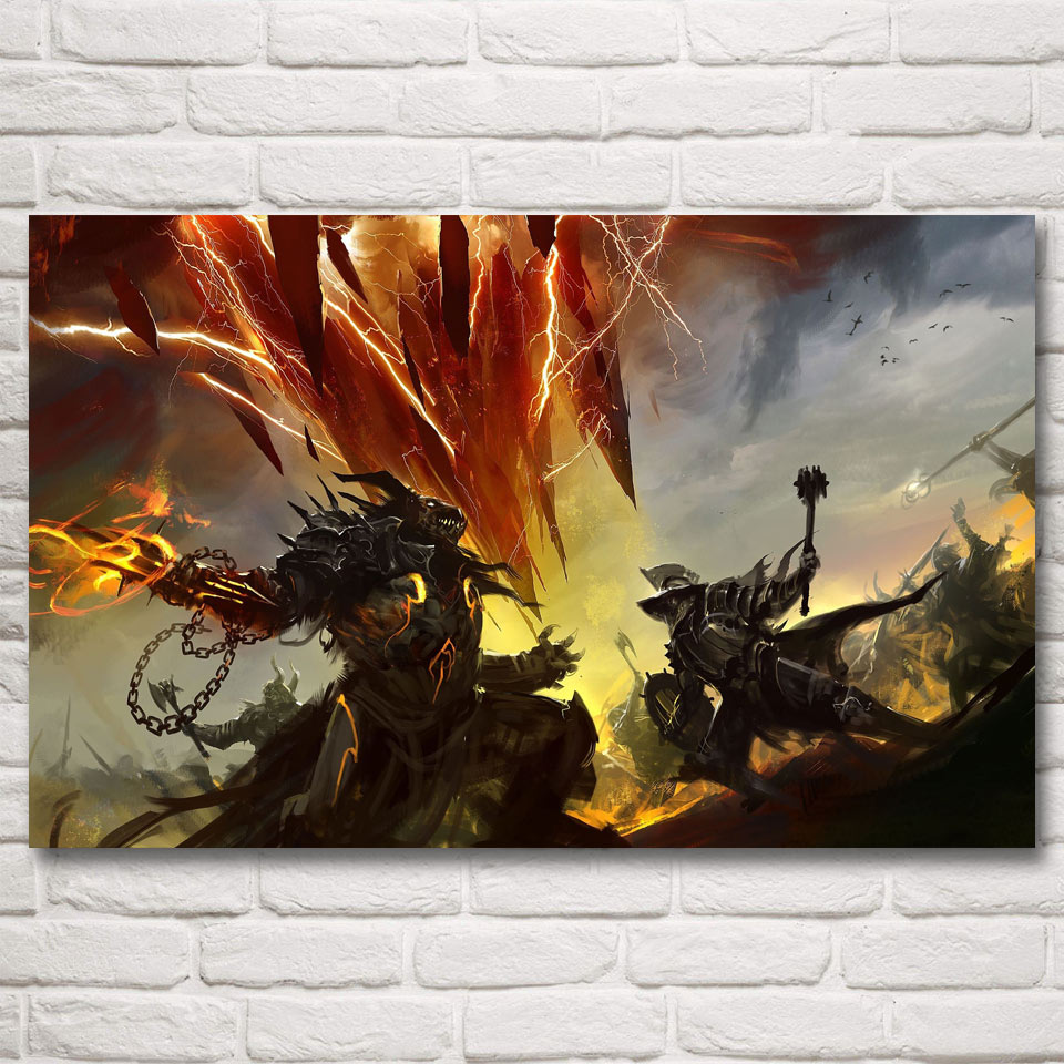 Guild Wars Dragon Video Game Art Silk Fabric Poster Prints Home Wall Decor Painting 12x19 15x24 19x30 22x35 Inches Free Shipping