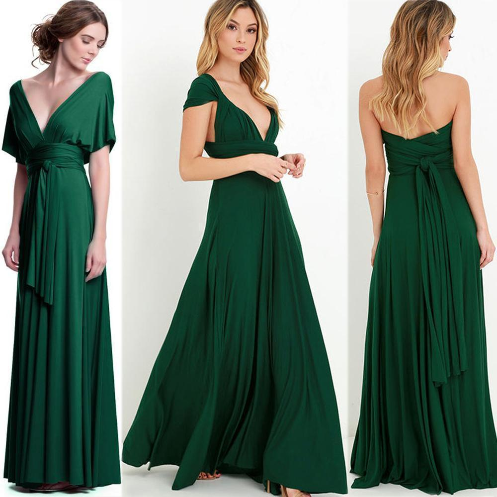 Women sexy convertible multi way wrap maxi dress backless beach women sexy convertible multi way wrap maxi dress backless beach sundress bridesmaid party dresses bandage bodycon long prom gown in dresses from womens ombrellifo Choice Image