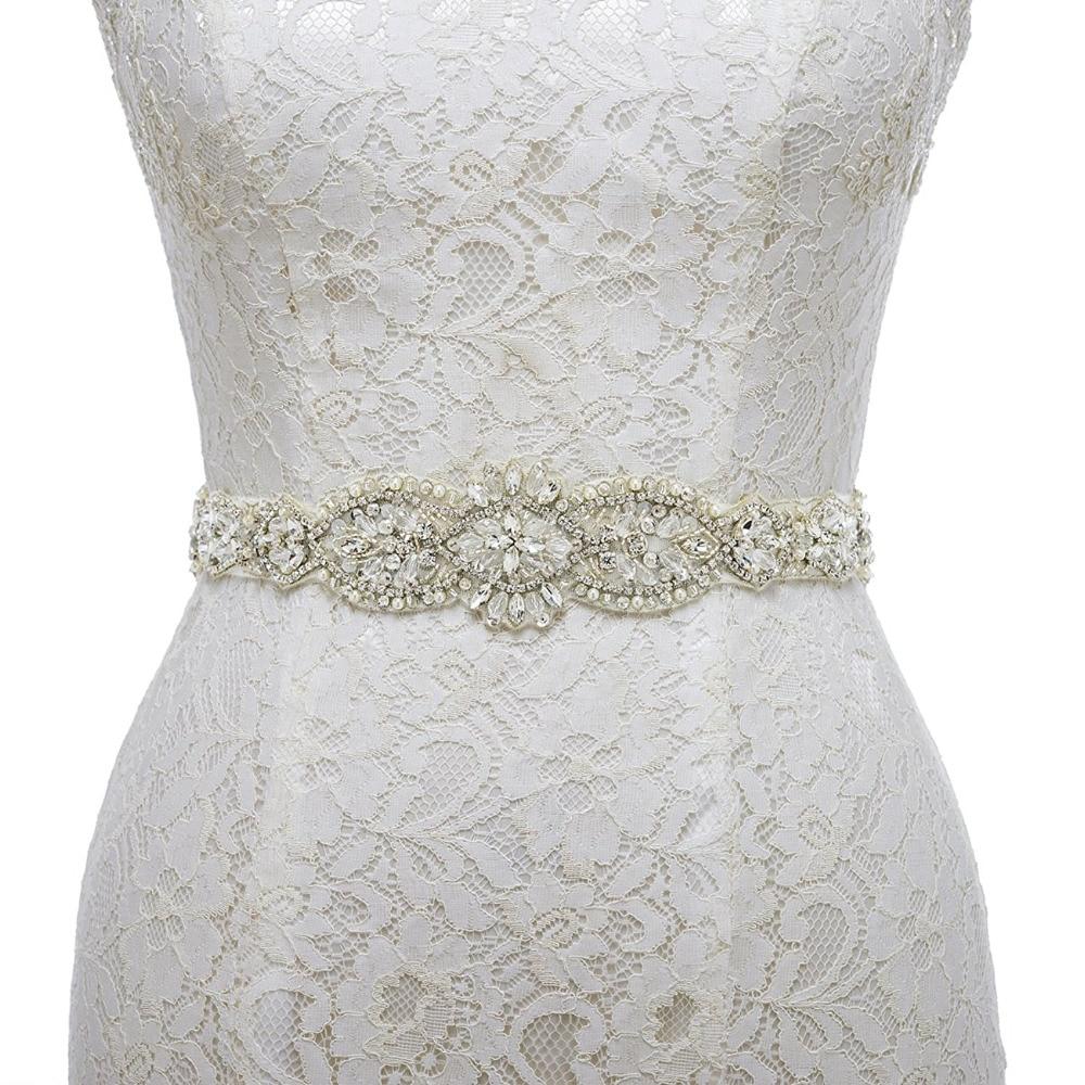Handmade crystal bridal belt rhinestone pearl luxury wedding dress - White Ribbon Bridal Sash Belt Rhinestone And Pearl Wedding Belt Crystal Bridal Sash Belt