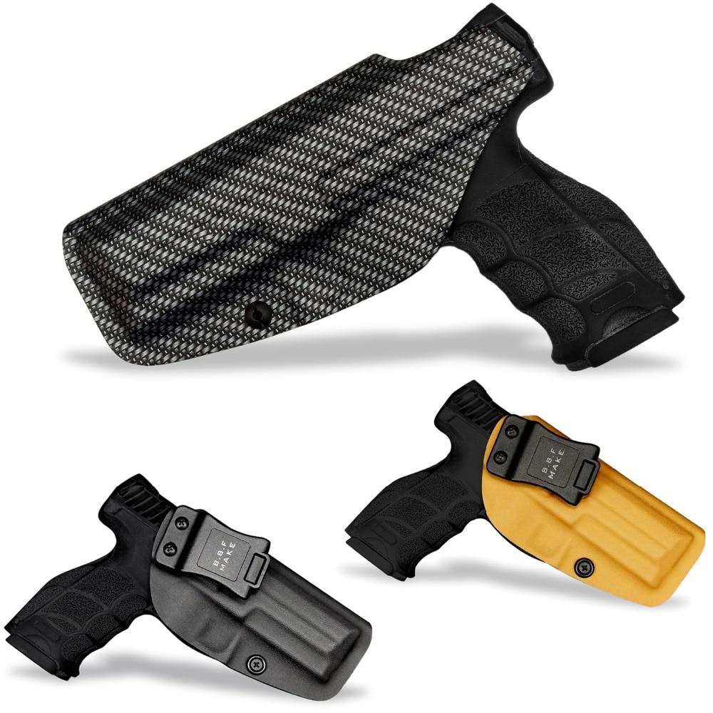 B.B.F Make IWB Tactical KYDEX Gun Holster Custom Fits: HK VP9 SFP9-SF/TR Inside Concealed Carry Waistband Pistol Case Belt Clip