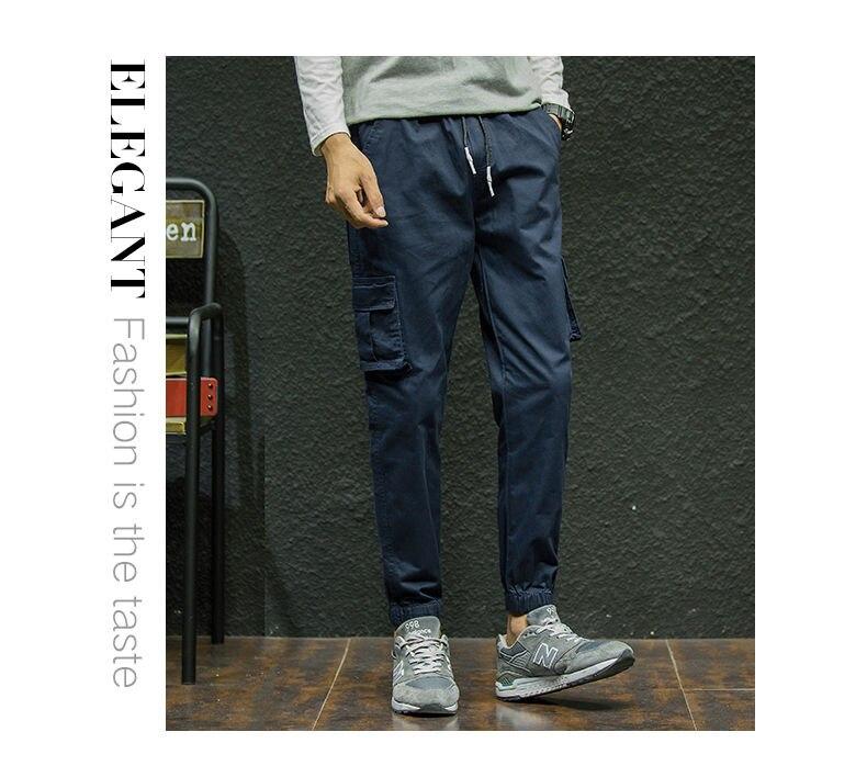 7XL Cargo Pants Men Quality Cotton Pencil Pants Male Washed Slim Fit Pants Mens Trousers Korean Brand MuLS Plus Size Casual Pant 14