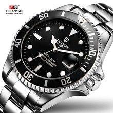лучшая цена 2019 Drop Shipping Watch Tevise Brand Men Mechanical Watch Automatic Fashion Luxury Stainless Steel Male Clock Relogio Masculino