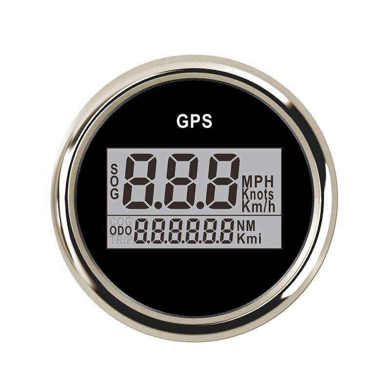 2 52mm Waterproof Digital GPS Speedometer Odometer For Car Boat With Backlight 12V 24V Car Speed