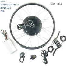 48V 1000W Elektrische Fahrrad conversion kit 26 zoll Rad vorne Bürstenlosen Motor 30A controller KT LCD5 Display