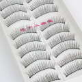 Hot Sale 10 Pairs Makeup Handmade Natural Fashion False Eyelashes Soft Long Eye Lash Cosmetic Free shipping