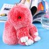 Cute Rabbit Key Chain Keychain Double Color Llaveros Mujer Doll Real Fur Keychains Fluffy Fur