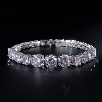 86705d6ab010 UILZ redondo de moda pulsera y brazaletes con Color plata piedra CZ para  mujer regalos de navidad joyería Pulseras UB003