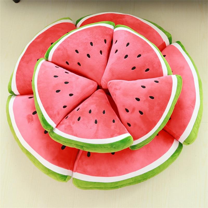 30CM 40CM Soft Plush Watermelon Pillows Baby Cute Cartoon Toys 3D Fruit Pillows Cushion Stuffed Plush