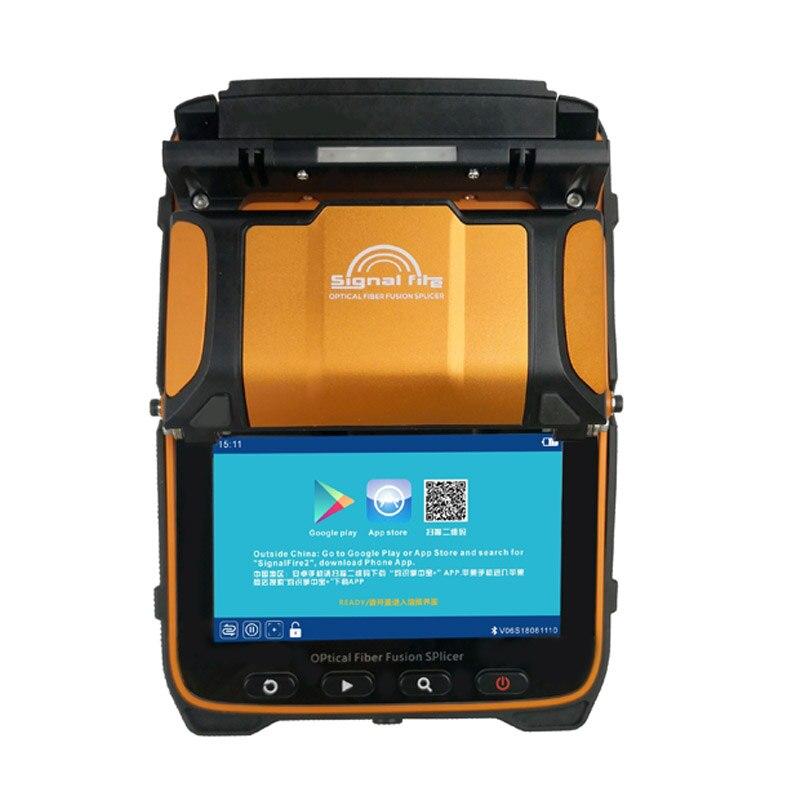 4 pcs Dom Gratuito se comprar Signalfire AI-9 5S Multi-linguagem Inteligente Automático Máquina de Emenda de Fusão De Fibra Óptica FTTH splice