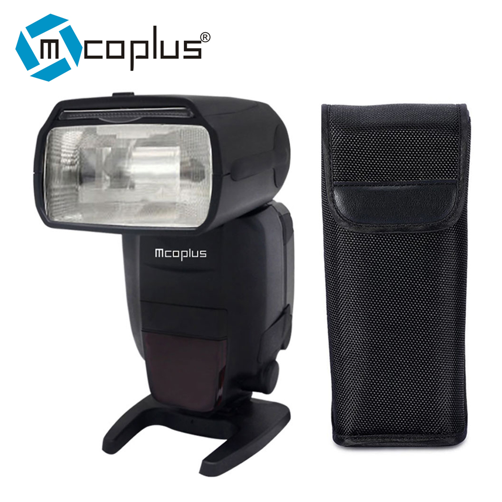 Mcoplus MT600C RT GN60 2.4G RT Wireless Radio TTL Slave Flash HSS 1/8000s Speedlite for Canon 600EX RT with Built in Radio