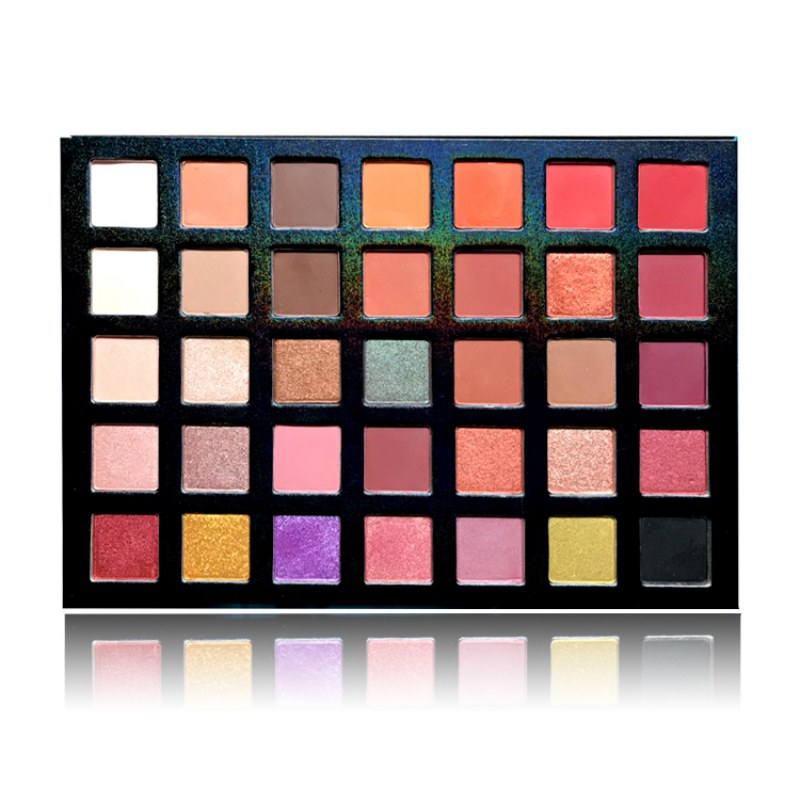 35 Colors Eyeshadow Palette Silky Powder Professional Make u