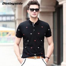 Men Embroidery Polo Tops Short Sleeves Polo Shirt 2017 Brand Clothing Camisa Masculina Casual Polo Shirt MST029