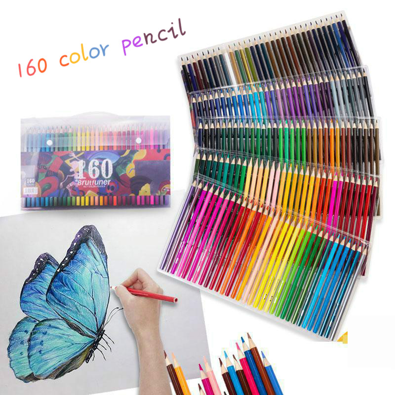 120/136/160 Colors Wood Colored Pencils Set  Cor Artist Painting Oil Color Pencil For School Drawing Sketch Art Supplies120/136/160 Colors Wood Colored Pencils Set  Cor Artist Painting Oil Color Pencil For School Drawing Sketch Art Supplies