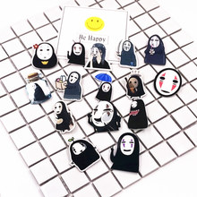 1Pcs Lovely Cartoon No Face Man Icons On The Pin Kawaii Icon Brooch Bacges Backpack Badges For Clothing Acrylic Badges(China)