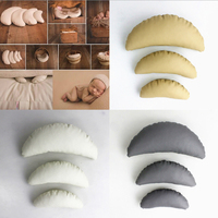 3pcs Newborn Posing Baby Photography Props Posing Pillow Newborn Positioner Baby Cushion Crescent Pillow Photography Accessories