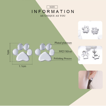 Footprints Animal Dog Earrings1