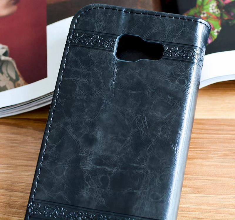 HTB156brRhnaK1RjSZFBq6AW7VXae Flip Wallet Leather Case for Samsung Galaxy A7 2017 A5 A3 Cover Embossed Flip Book Cases for Samsung A5 A3 2016 A310 A510 Bag