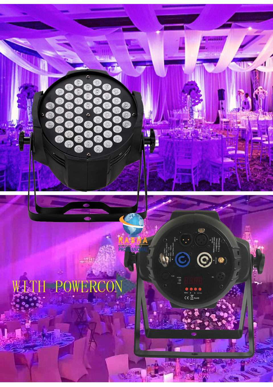 8X LOT Rasha Factory CE Approved 54*3W RGBW LED Par Light Stage Par64 Light High Quality DMX LED LIGHT Aluminum LED Par Can free shipping 16 lot dmx 18x10w rgbw led par can light for stage decoration