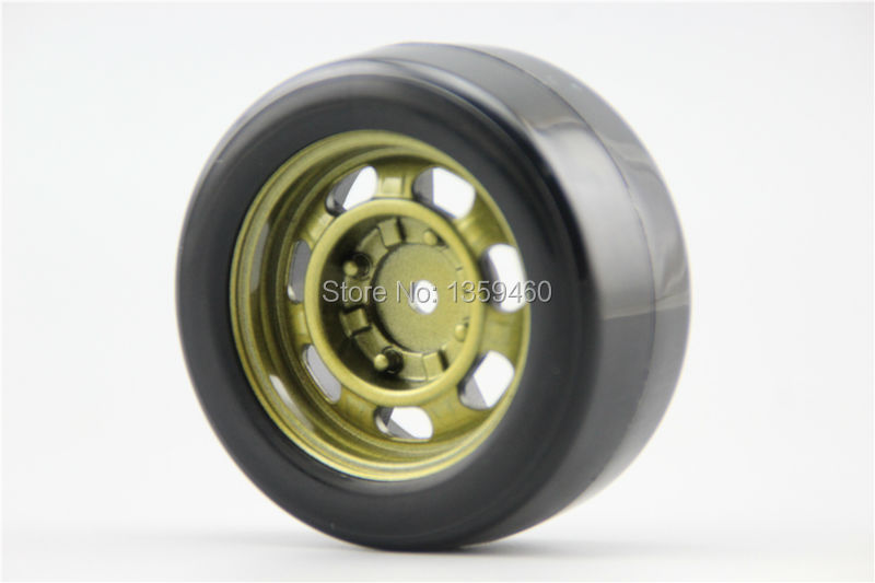 4pcs Rc Hard Slick Drift Tires Tyre Wheel Rim Classic2s 6mm Offset Fits For 1:10 Drift Car 11083+20065 painting Silver