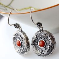 Ecoworld Ge Jewelry Wholesale Manual Set Natural Red Agate South 925 Silver Earrings Vintage Silver Earrings