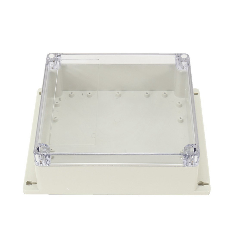 7.6 inch x7.4 inch x2.8 inch (192mmx188mmx70mm) ABS Junction Box Universal Project Enclosure w PC Transparent Cover7.6 inch x7.4 inch x2.8 inch (192mmx188mmx70mm) ABS Junction Box Universal Project Enclosure w PC Transparent Cover