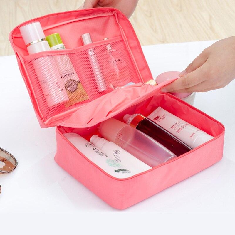 Для женщин багажа дорожные сумки Оксфорд косметика хранения сумки висит Уборка Организация косметички открытый модные сумки