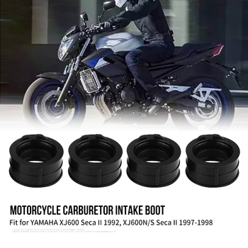 4Pcs Motorcycle Carb Carburetor Intake Manifold Boot Joint for YAMAHA XJ600 XJ600N/S Seca II New Arrive Carburetor Interface New Мотоцикл